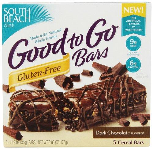 South Beach Diet Good To Go, Gluten sombres gratuit chocolat 1,19 Bars Oz, 5 comte