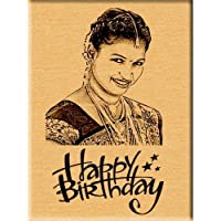 Incredible Gifts India Incredible Birthday Gift - Engraved Wooden Photo Plaque (5x4)
