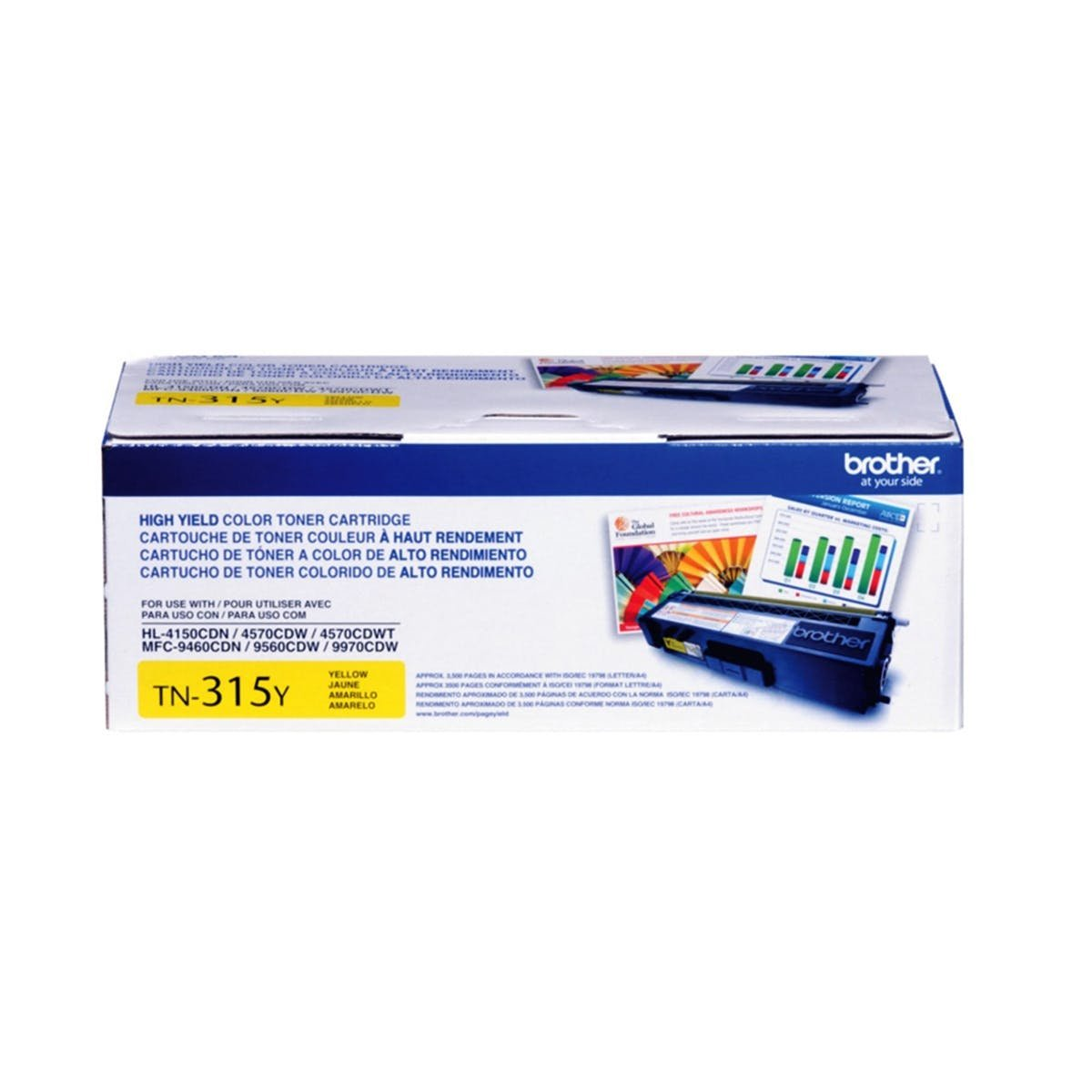 Brother TN315Y Cartridge Yellow 1 Pack Image 1