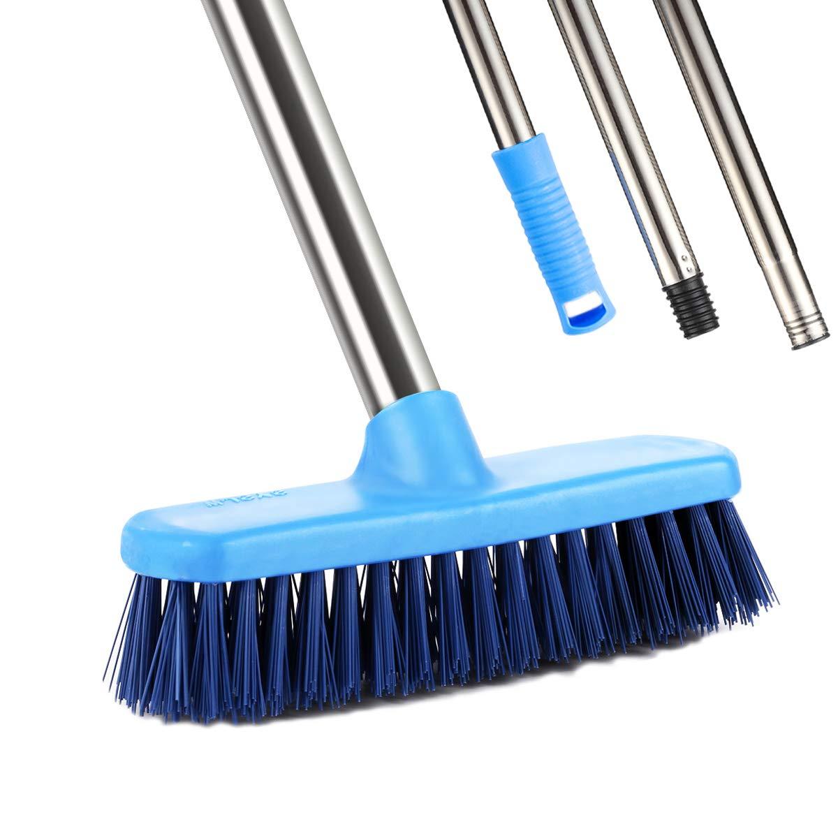floor scrub brush ycute 47 stainless steel long handle. Black Bedroom Furniture Sets. Home Design Ideas
