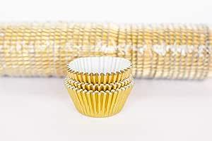 #550 (Regular Cupcake) 1000 Qty, Gold Foil Patty Pans - Baking Cups
