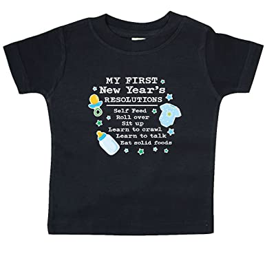 amazoncom inktastic my first new years resolutions with baby clip art and baby t shirt clothing