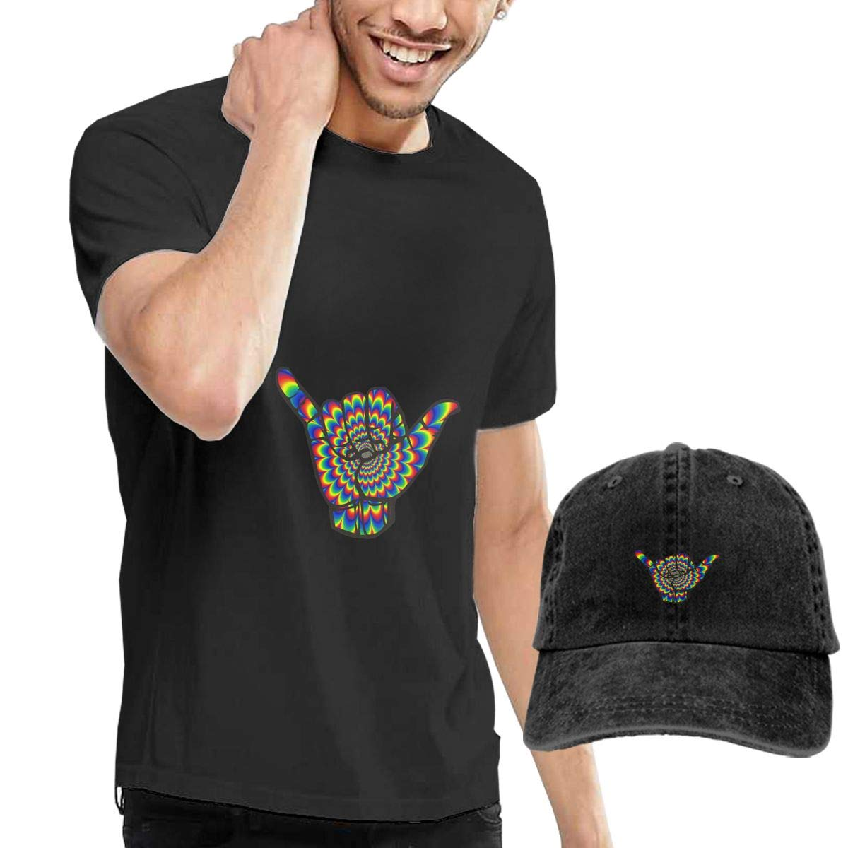 QqZXD Shaka Sign Fashion Mens T-Shirt and Hats Youth /& Adult T-Shirts
