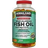 Kirkland Signature Kirkland Signature Wild Alaskan Fish Oil 1400 mg Dietary Supplement (Netcount 230 Soft Gels…