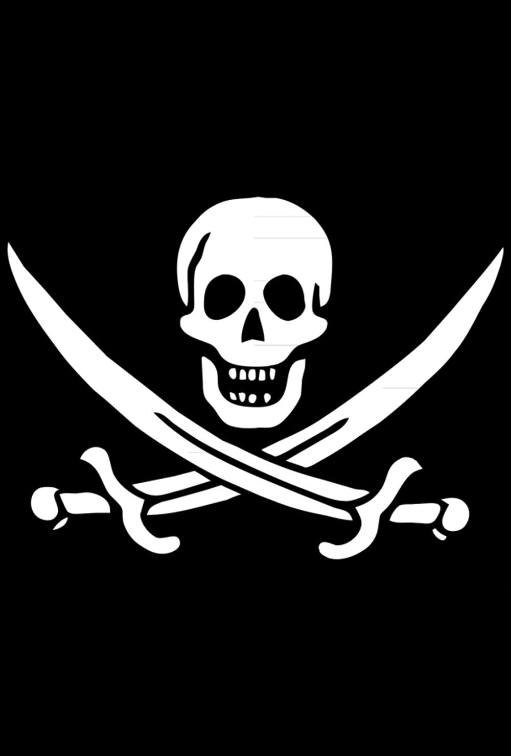 Toland Home Garden Calico Jack's Jolly Roger 12.5 x 18 Inch Decorative Pirate Skull Sword Garden Flag