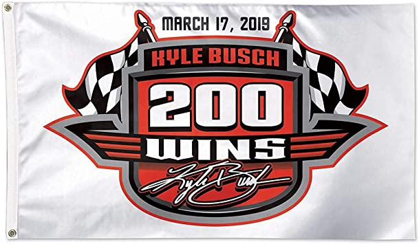 NASCAR Win-Craft Kyle Busch 200th Win 3x5 Flag
