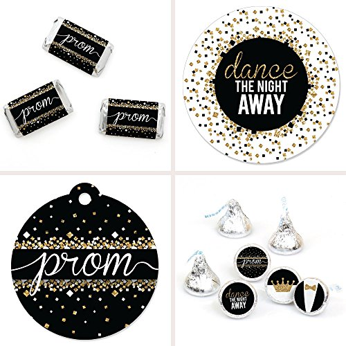 Big Dot of Happiness Prom - Prom Night Party Decorations Favor Kit - Party Stickers & Tags - 172 pcs -
