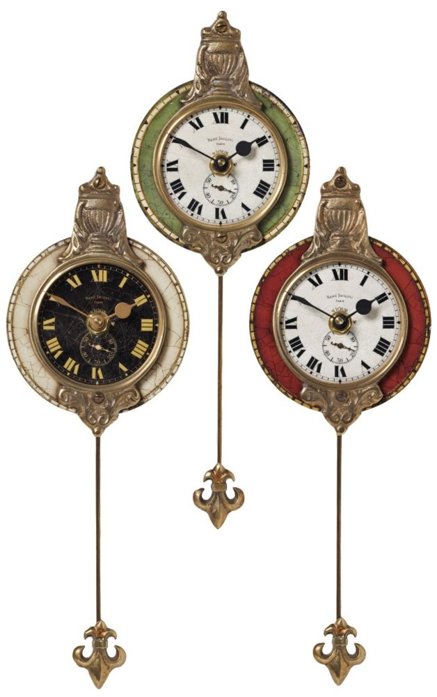 Amazoncom Uttermost Monarch Wall Clock Set of 3 Home Kitchen