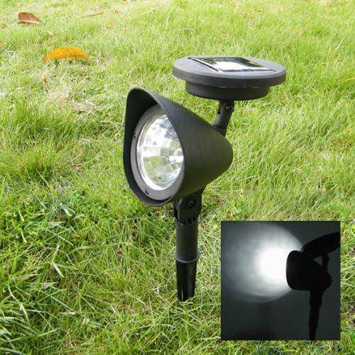 LED Jardín Lámpara exterior jardín 3 LED Solar Spot Paisaje Spot Luz LED Spotlight Bombilla: Amazon.es: Iluminación
