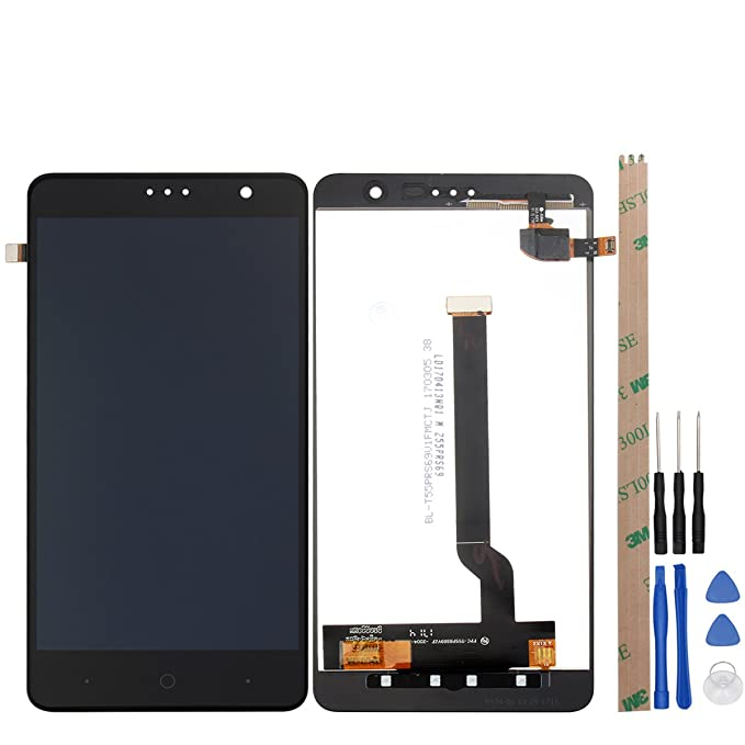 for ZTE X4/Z956/Z957 LCD Digitizer Screen Replacement HYYT LCD Display and  Touch Screen Digitizer Glass Replacement Full Assembly (Black)