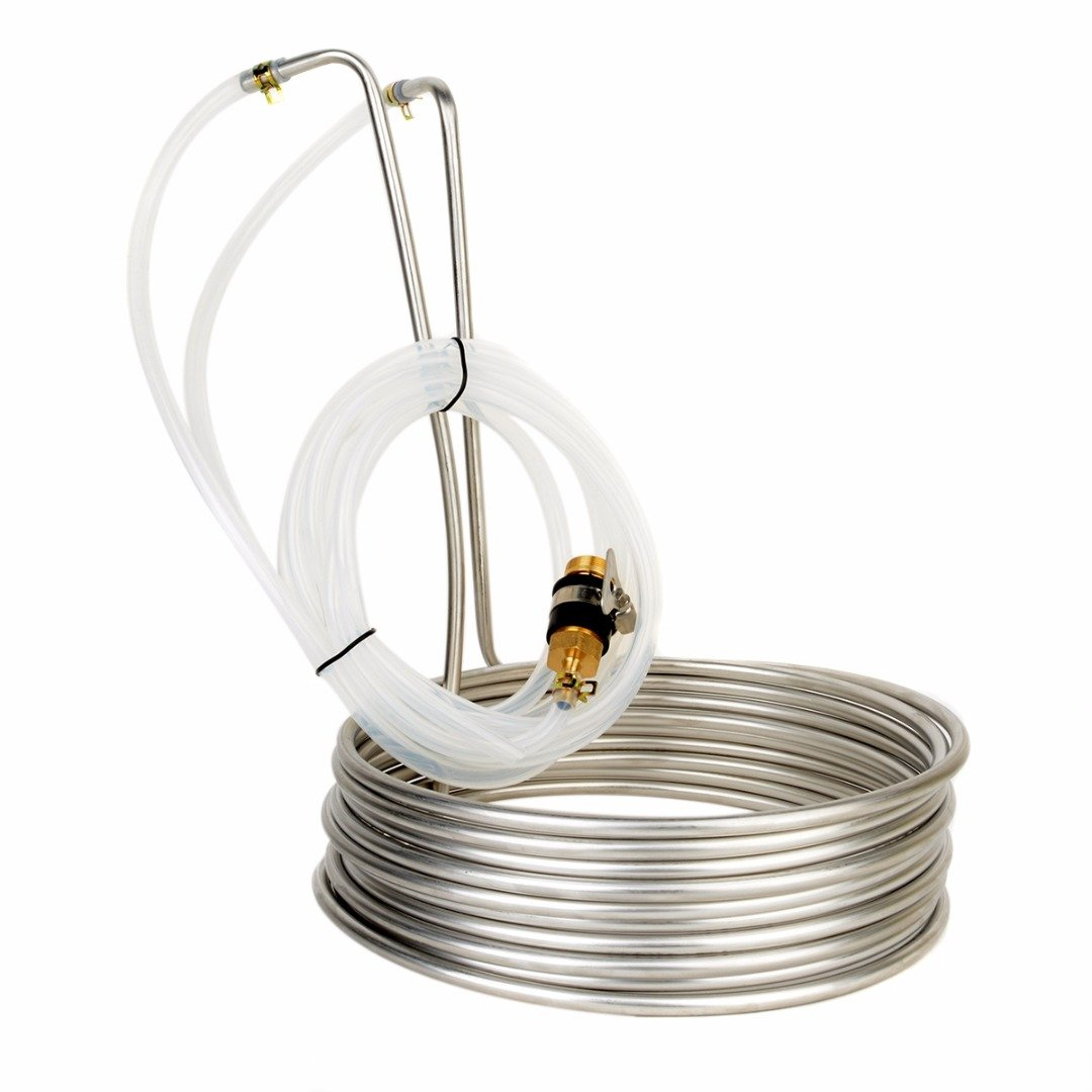 Aodewe Stainless Steel Immersion Wort Chiller Cooler Elevated Coils Home Brew Beer With 2m Silicone Tubing