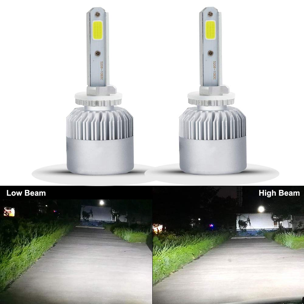 HSUN 880/881 LED Headlight Bulb, All-in-One Conversion Kit-8000 Lumens Extremely Super Bright COB Chip, 2 Pack, 6500K White