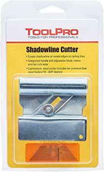 Tile Cutter Shadowline Ceiling Panel Tool Heavy Duty Adjustable Blade Accessory