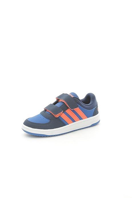 dbc4814539fd5 Adidas F98545 Scarpe Sportive Bambino Eco-pelle Blue Orange Blue Orange 33