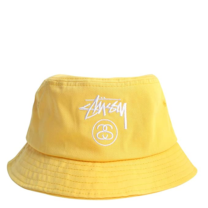 2ba6298a Stussy Stock Lock SP 15 Bucket Hat 132651 Yellow, S/M: Amazon.ca: Clothing  & Accessories