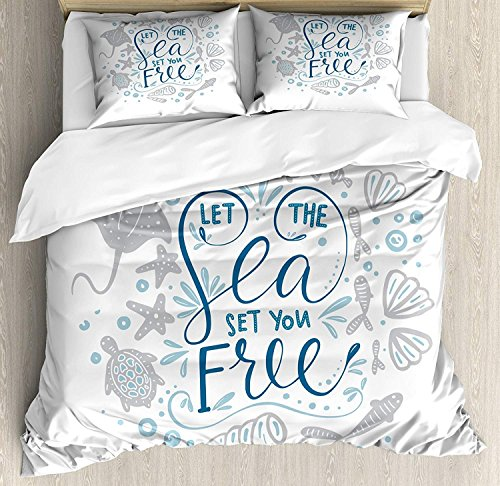 Zombie Decor 4 Piece Bedding Set Full Size, Dead Man Walking Dark Danger Scary Scene Fiction Halloween Infection Picture, Duvet Cover Set Quilt Bedspread for Childrens/Kids/Teens/Adults, Multicolor -