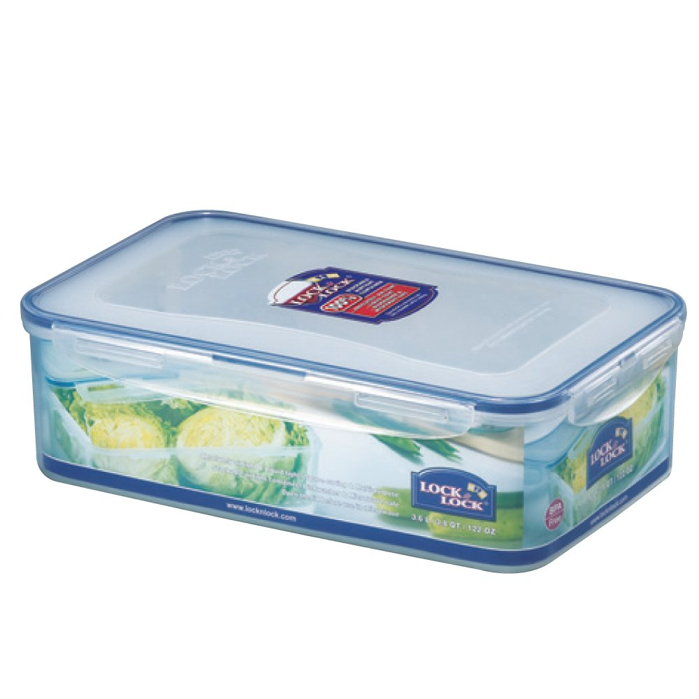 LOCK & LOCK Airtight Rectangular Food Storage Container with Special Drain Tray 121.73-oz / 15.22-cup