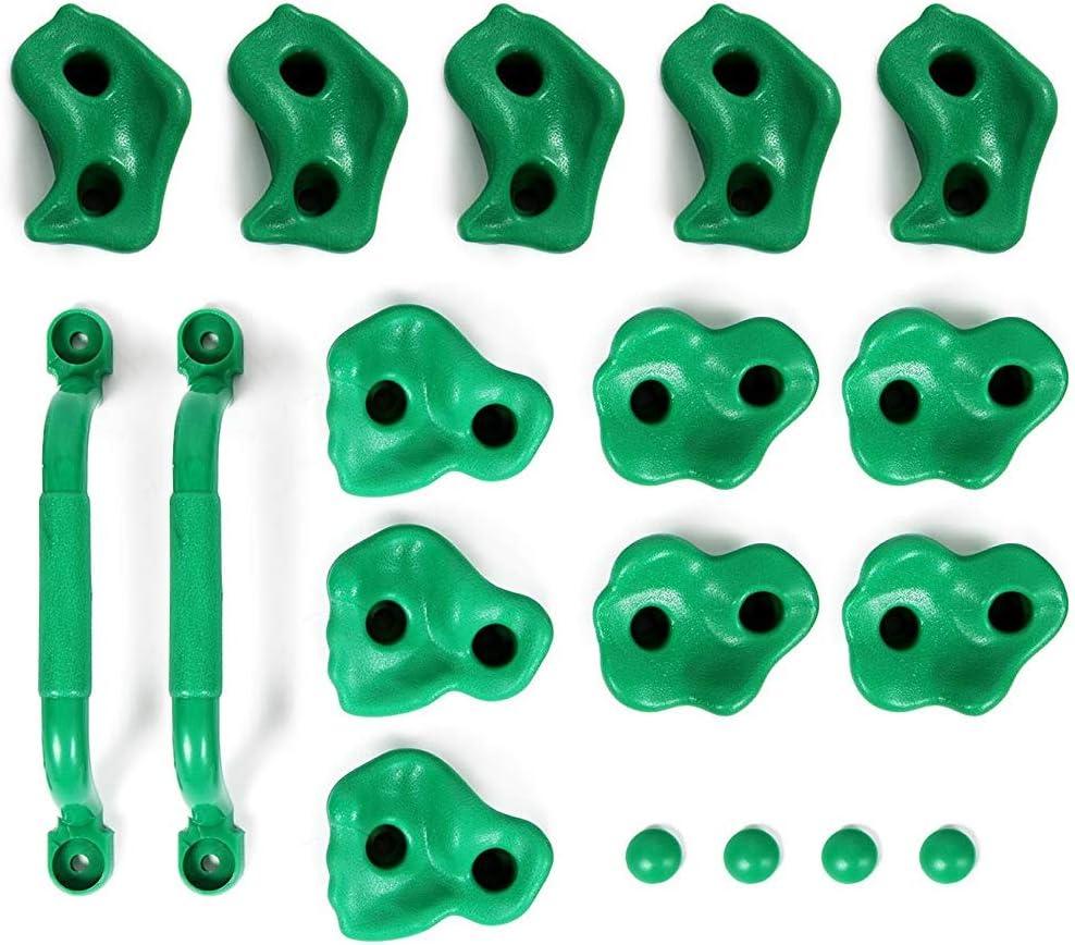 Powerfly Kids - Juego de 2 asas de seguridad y 12 tazas, para escalada, color verde