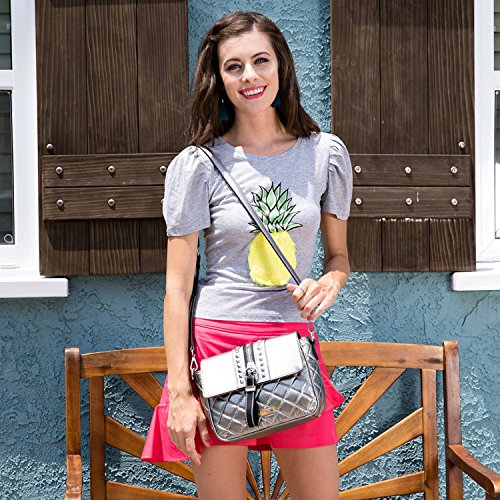 Body Size Black One Nikky Adjustable Cross Women's and Strap Shoulder Top Bag Crossbody Flap Black Wwn6O7zwqS