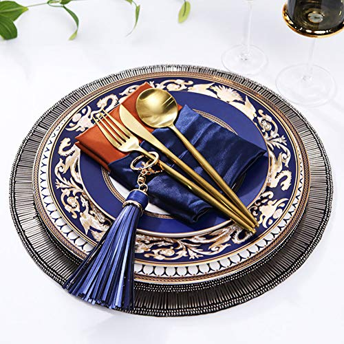 Hand-painted Bone China Tableware With Handmade Placemats, Golden Cutlery Set, Oriental Beauty Dinner Set, Creative Gift ()