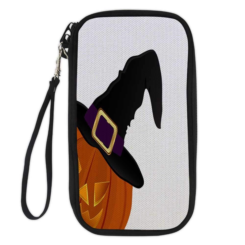 wallet for passportpassport organizer walletPumpkin for Halloween in a witches hat 9.1x4.7x0.8