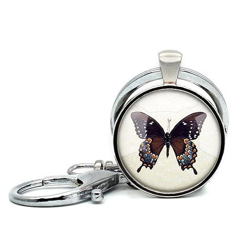 Amazon.com: Hecho a mano llavero mariposa declaración ...