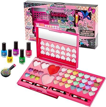 Kit de maquillaje de niña con seguridad probada no tóxico compacto con paleta de maquillaje con espejo: Amazon.es: Hogar