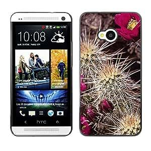 Cubierta de la caja de protección la piel dura para el HTC ONE M7 2013 - Beautiful Floral Pattern