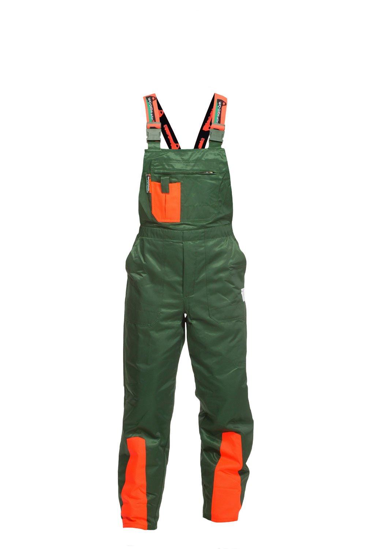 kwf-gepr/üfte Forsthose 54 Latzhose gr/ün//orange WOODSafe Schnittschutzhose Klasse 1 Waldarbeiterhose Gr/ö/ße 52 Herren