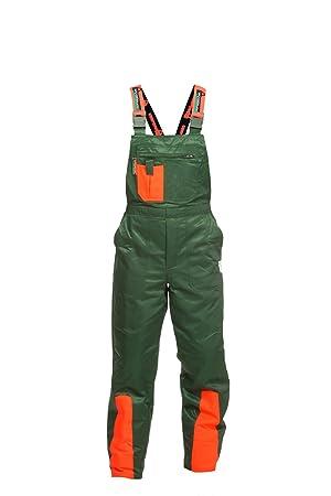 Pantalones anticorte Clase 1 Woodsafe®, probado por Kwf, peto verde/naranja,
