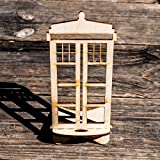 Phone Charging Station - Police Call Box - Raw Wood