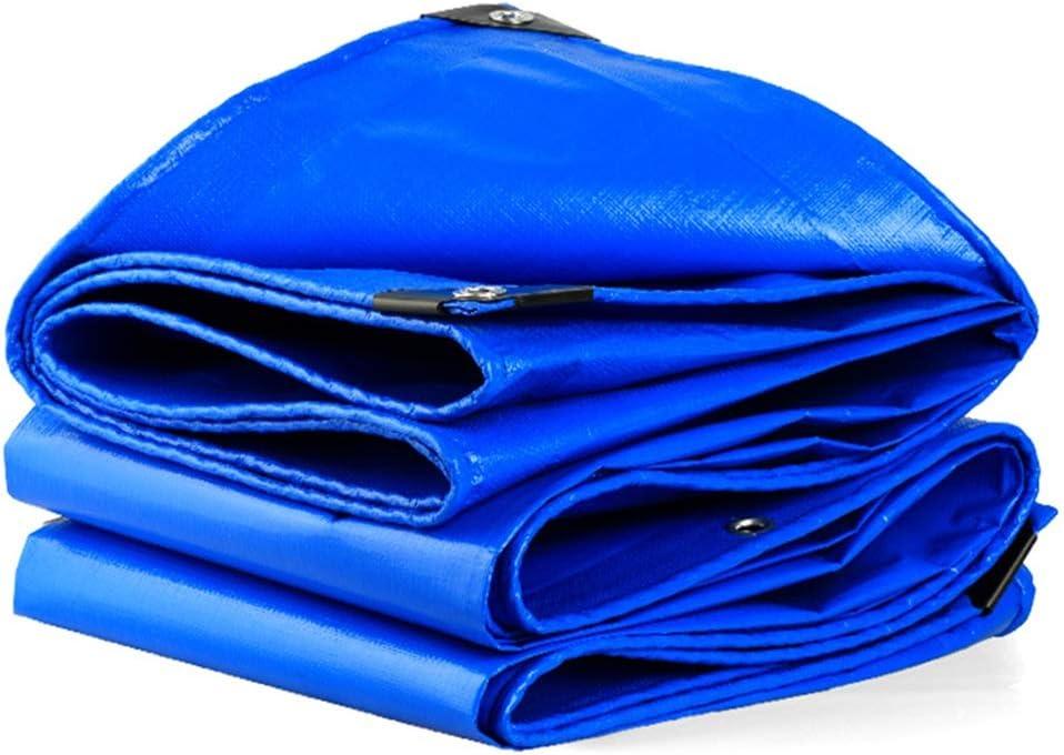 Lona Espesar PE Tela plástica Coche Exterior Triciclo eléctrico Techo de Invernadero Impermeable Impermeable Sombra Protector Solar LIUDINGDING (Color : Blue, Size : 2 * 3m)