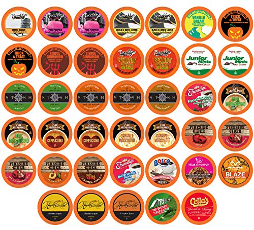 Two Rivers LLC Coffee Sampler Pack for Keurig K-Cup Brewers, Fall Flavors, 40 Count (Flavors Fall)