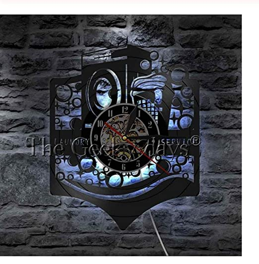 wwwff Lavadero Reloj de Pared Moderno Reloj de Pared de Vinilo ...