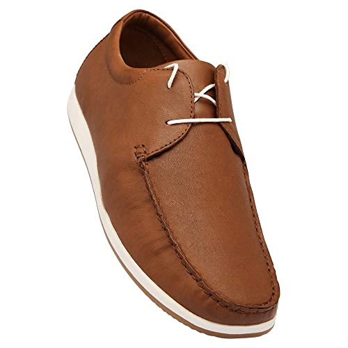409930b78c4 Louis Philippe Men s Tan Leather Loafers and Moccasins - 10 UK India (44  EU)  Buy Online at Low Prices in India - Amazon.in