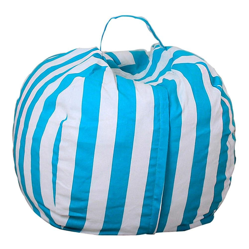 Matefield Canvas Stuffed Animal Storage Bean Bag Kids Toy Clothes Organizer(YCK10)