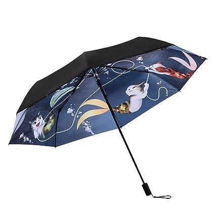 40f93ad3c864 Amazon.com : QCHOMEE Windproof Travel Umbrellas Tri-fold umbrella ...