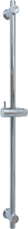 Barre de douche 80/cm Support Haute Qualit/é variable Barre de douche barre murale montage mural Support pour douchette de Barre Chrome