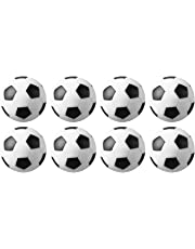 Tadudu Table Soccer Foosballs Game Replacements 32mm/1.26 In Mini Football Balls Black and White, Set of 8