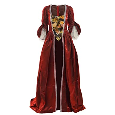 e5ca41b7dcec BLESSUME Women Rococo Marie Antoinette Dress Costume Masquerade Ball Gown  (Burgundy(Only Over Dress
