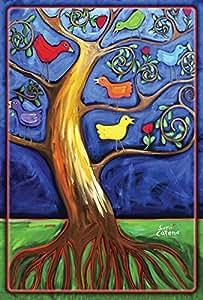 Toland Home Garden pájaro ramas jardín bandera, tela, multicolor, Garden-S-12.5x18