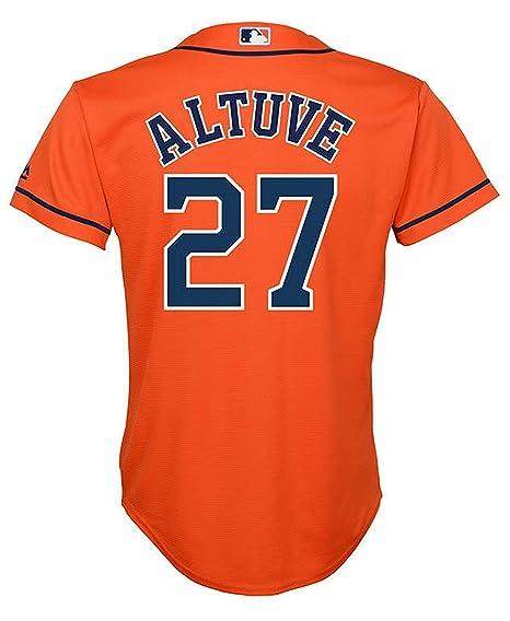 quality design 1191f 30359 Outerstuff Jose Altuve Houston Astros #27 Orange Youth Cool Base Alternate  Replica Jersey
