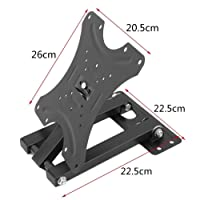 Alexvyan 180 Degree Rotatable Full Motion Articulating Iron TV Wall Mount Stand Bracket (14-42 Inches, Black)