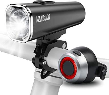 LED Bike Lights Front /& Back 800 Lumens Bicycle USB Rechargeable Tail Lamp Set