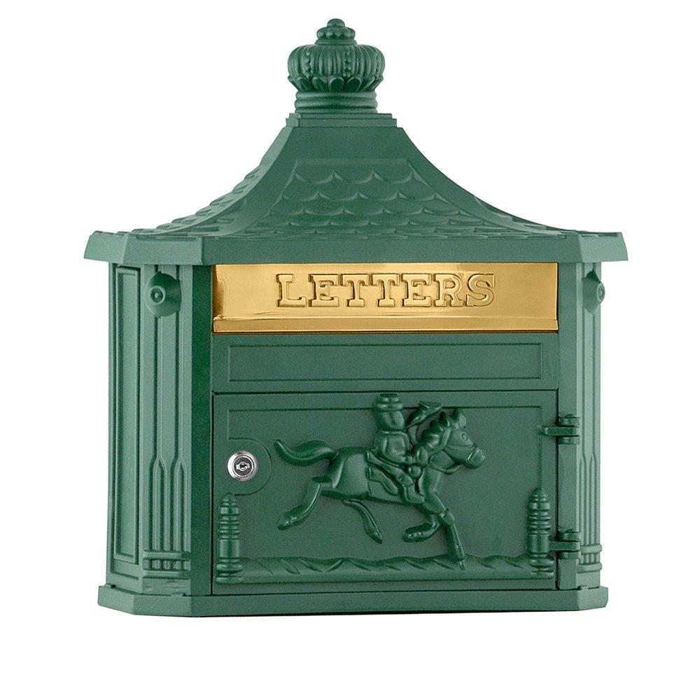 Salsbury Industries 4460GRN Victorian Surface Mounted Mailbox, Green