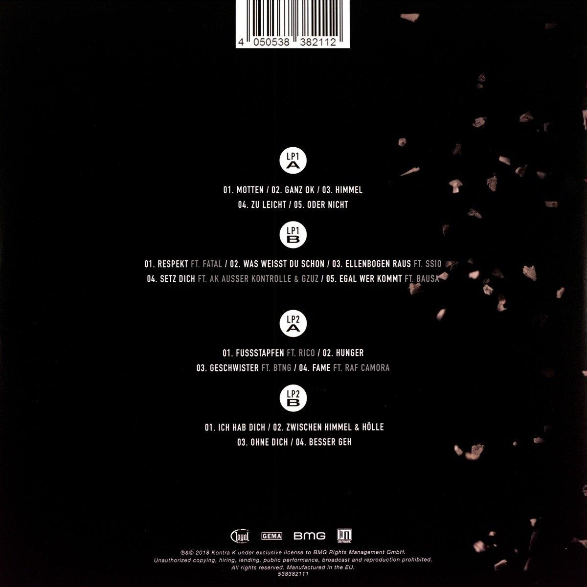 Erde Knochen Vinyl Lp Kontra K Amazonde Musik
