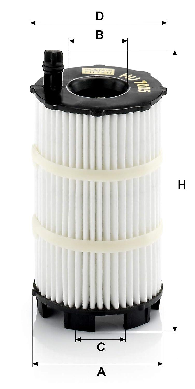 Dichtungssatz /Ölfilter Satz mit Dichtung F/ür PKW Original MANN-FILTER /Ölfilter HU 7005 X