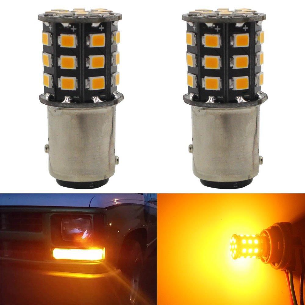 AMAZENAR 2-Pack 1157 BAY15D 1016 1034 7528 2057 2357 Car Interior RV Camper Bulbs - 12V-24V Extremely Bright Red 2835 33 SMD LED Light Bulb - Replacement for Tail Backup Brake light Amazenar(TM) AZ-1157-2835-33L-CW / 12V-24V