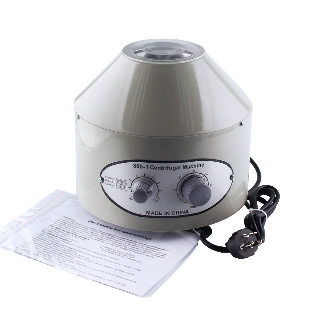 ele ELEOPTION 220V Electric Centrifuge Lab Medical Practice Timer 4000 rpm 20 ml x 6