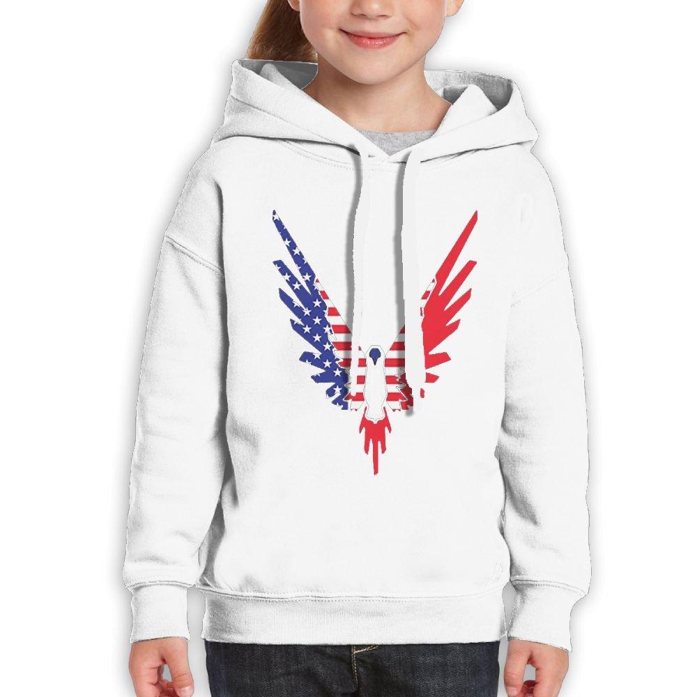 Addie E. Neff Pullover Parrot Logo Galaxy Logan Paul Logang USA Flag Boys,Girls,Youth Casual Sweatshirt Pocket Hoodie M White